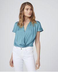 PAIGE Dijon Bodysuit - Blue