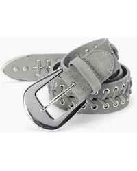 PAIGE Cooper Belt - Gray