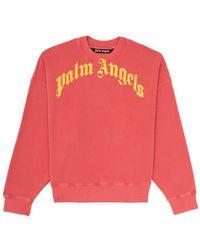 Palm Angels - Vintage Wash ロゴ スウェットシャツ - Lyst