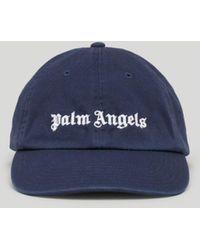 Palm Angels ロゴ キャップ - ブルー
