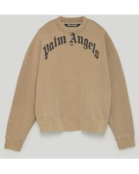 Palm Angels Curved Logo Sweatshirt - ナチュラル