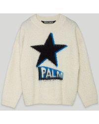 Palm Angels Rockstar セーター - ホワイト