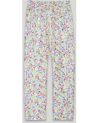 Palm Angels X Missoni 'scribble' ストレートパンツ - ホワイト