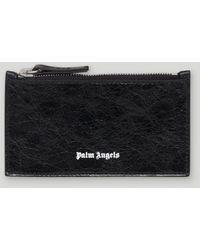 Palm Angels ファスナーカードケース - ブラック