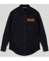 Palm Angels デニムシャツ - ブラック