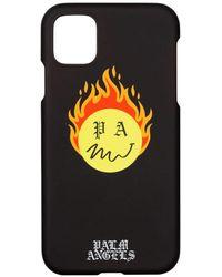 Palm Angels Funda Burning Head para iPhone 11 Pro - Negro