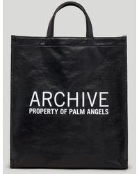 Palm Angels Archiveプリント ハンドバッグ - ブラック