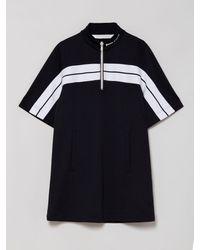 Palm Angels ストライプ ショートスリーブドレス - ブラック