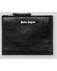 Palm Angels 財布 - Men - Leather/viscose - Os - ブラック