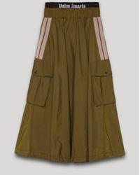 Palm Angels Logo Cargo Skirt - Green