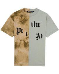 Palm Angels - Broken Logo パネル Tシャツ - Lyst