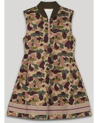 Palm Angels Camo Track Dress - Brown