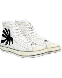 Palm Angels パームツリーハイカットスニーカー - ホワイト