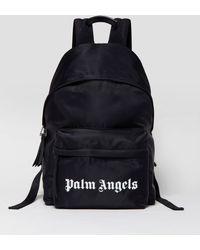 Palm Angels ロゴプリント バックパック - ブラック