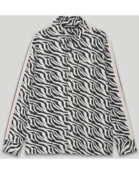 Palm Angels ゼブラプリント シャツ - ブラック