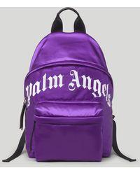 Palm Angels ロゴ バックパック - パープル