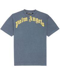 Palm Angels ロゴ Tシャツ - ブルー