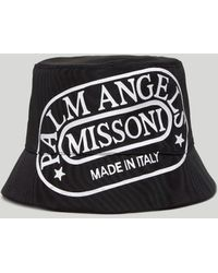 Palm Angels X Missoni ロゴ バケットハット - ブラック
