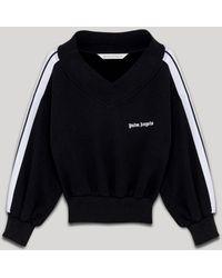 Palm Angels オフショルダー スウェットシャツ - ブラック