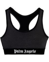 Palm Angels Logo Bra - Black