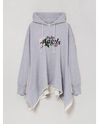 Palm Angels Fleece Poncho - Grijs