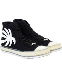 Palm Angels High-Top-Sneakers mit Palmen-Patch - Schwarz