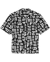 Palm Angels ボーリングシャツ - ブラック