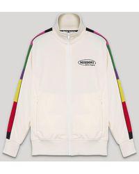 Palm Angels X Missoni Sport ロゴプリント トラックジャケット - ホワイト