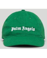 Palm Angels ロゴ キャップ - グリーン