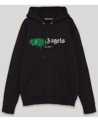 Palm Angels スプレー ロゴ パーカー - ブラック