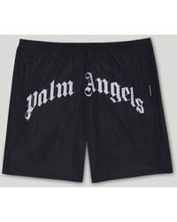 Palm Angels ロゴ トランクス水着 - ブラック
