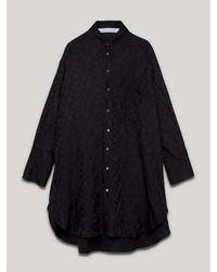 Palm Angels モノグラム シャツドレス - ブラック