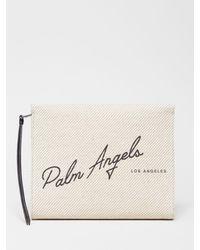 Palm Angels ロゴ クラッチバッグ - ホワイト