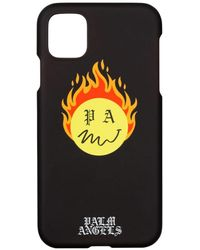 Palm Angels Burning Head Iphone 11 ケース - ブラック