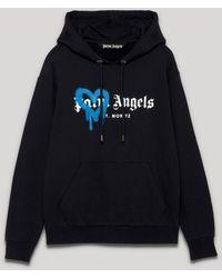 Palm Angels ハート ロゴ パーカー - ブラック