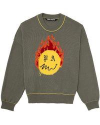 Palm Angels Burning Head セーター - グリーン