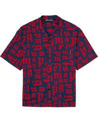 Palm Angels ボーリングシャツ - ブルー