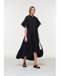 Palones Poplin Skye Midi Dress - Black