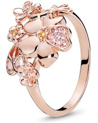 1bdf2954d6b Lyst - Gucci Sterling Silver Love Britt Ring - Size 8.75 in Metallic