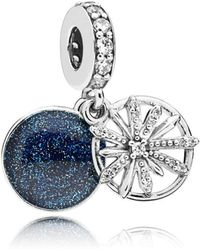 PANDORA - Dazzling Wishes Pendant Charm - Lyst