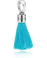 PANDORA - Turquoise Tassel Pendant Charm - Lyst