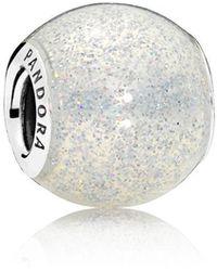 PANDORA - Silvery Glitter Ball Charm - Lyst