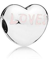 PANDORA - Loved Heart Clip - Lyst