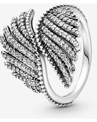 PANDORA - Shimmering Phoenix Feather Statement Ring - Lyst