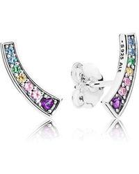 PANDORA - Multi-colour Arches Stud Earrings - Lyst