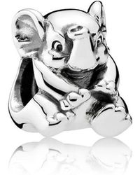 PANDORA - Lucky Elephant Charm - Lyst