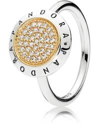 PANDORA - Signature Ring - Lyst