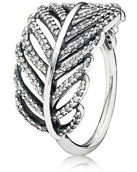PANDORA - Feather Ring - Lyst