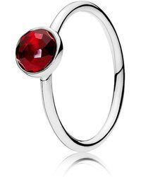 PANDORA - July Droplet Birthstone Ring - Lyst