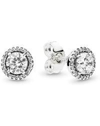 PANDORA - Classic Elegance Stud Earrings - Lyst